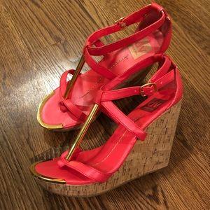 Dolce Vita Hot Pink Wedge Sandals